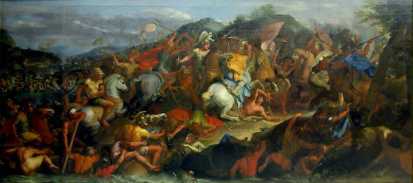The Battle of the Granicus River in May 334 BC