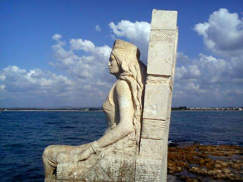 Statue of Queen Zenobia in Latakia, Syria