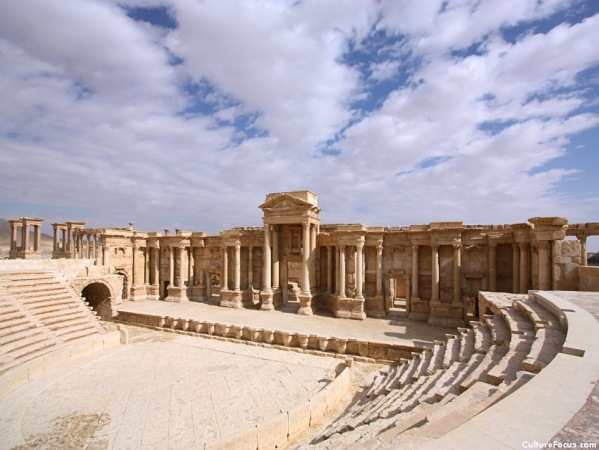 The theater at Palmyra, built in the 1st or 2nd century CE, was one of the most magnificent in the Middle East.