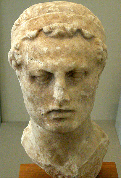 Bust of Antiochus iv at the altes museum in Berlin