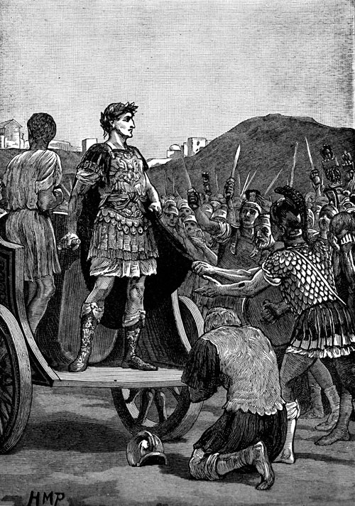 Caesar Addressing his Troops